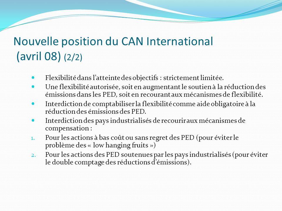 Flexibilité dans latteinte des objectifs : strictement limitée. Une flexibilité autorisée, soit en augmentant le soutien à la réduction des émissions