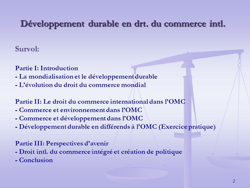2 Développement durable en drt. du commerce intl.
