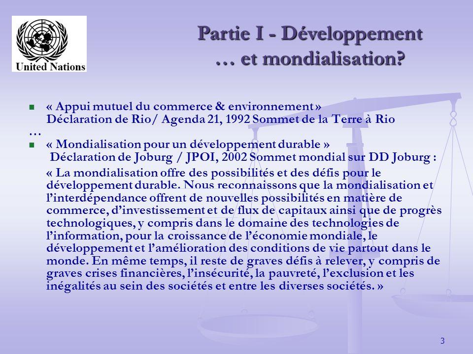 4 Partie I -Introduction au droit du commerce intl.