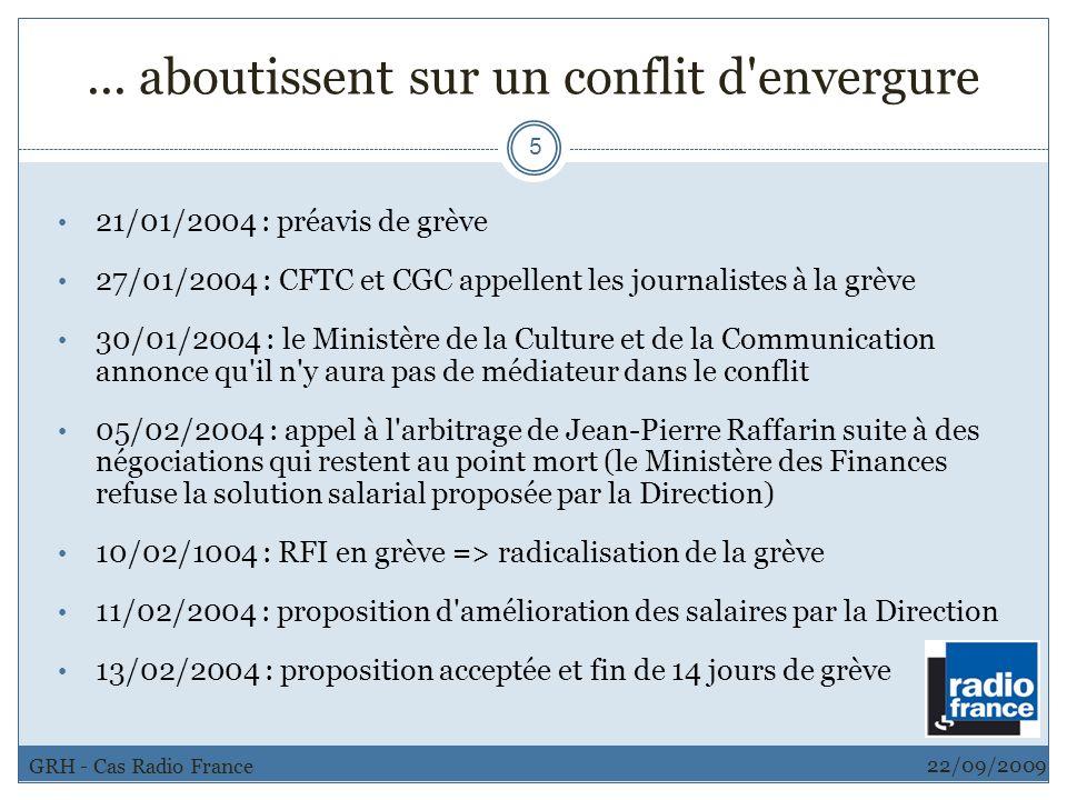 ... aboutissent sur un conflit d'envergure 5 21/01/2004 : préavis de grève 27/01/2004 : CFTC et CGC appellent les journalistes à la grève 30/01/2004 :