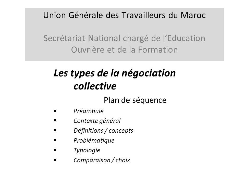 4.Types de négociations collectives /2 Quelques aspects préliminaires Les situations de négociations collectives sont multiples et nombreuses.