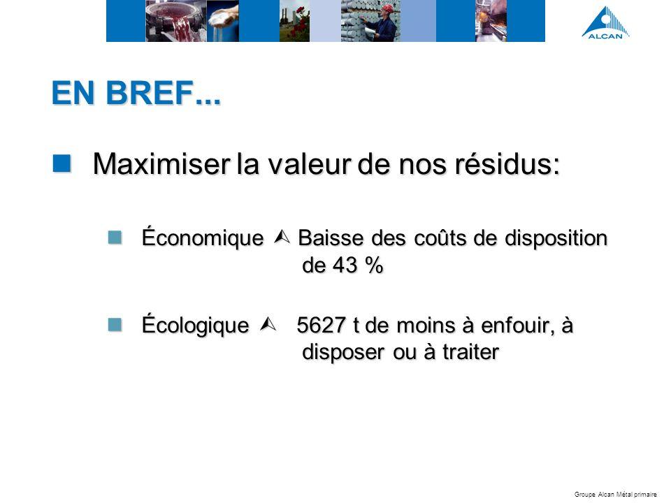 Groupe Alcan Métal primaire EN BREF...