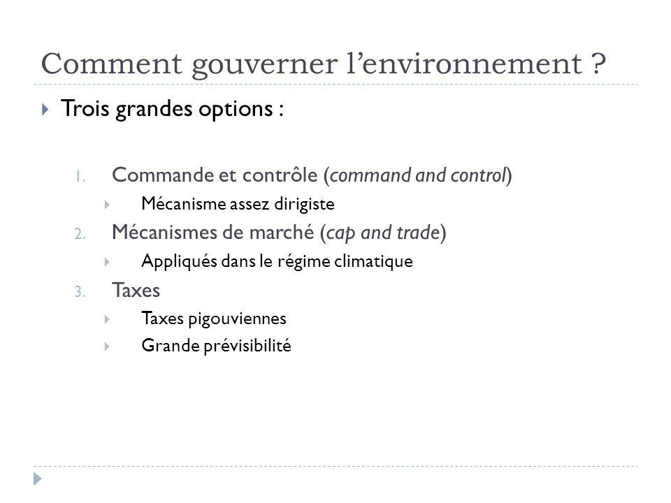 Nécessité de régimes Ensemble de règles et de mécanismes qui organisent laction collective autour dun objet.