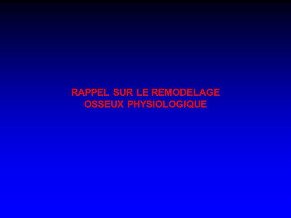 RAPPEL SUR LE REMODELAGE OSSEUX PHYSIOLOGIQUE