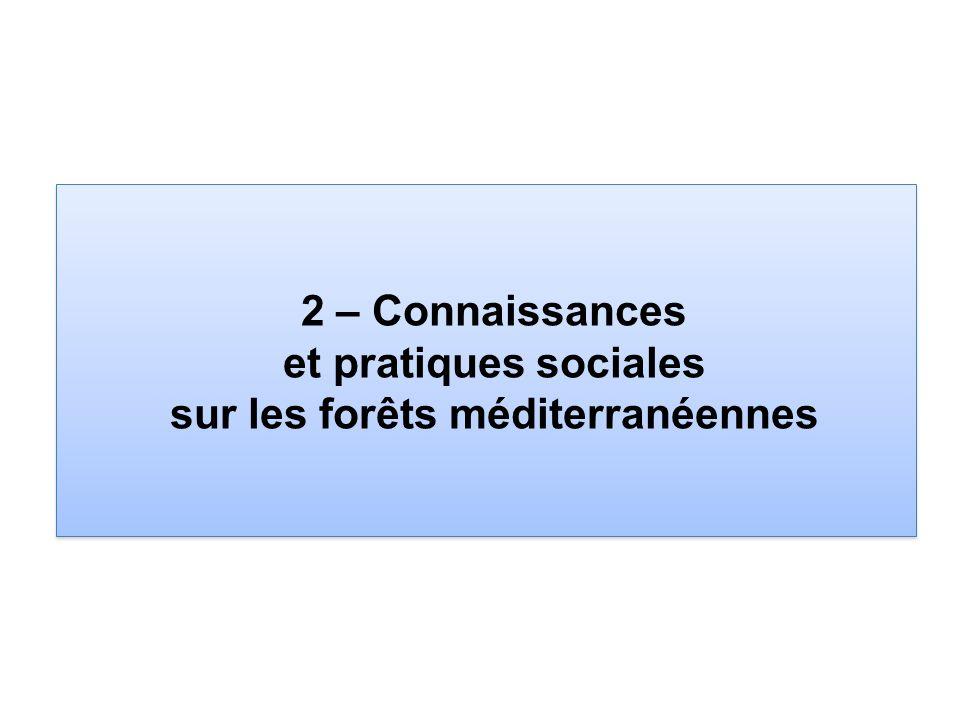 2 – Connaissances et pratiques sociales sur les forêts méditerranéennes
