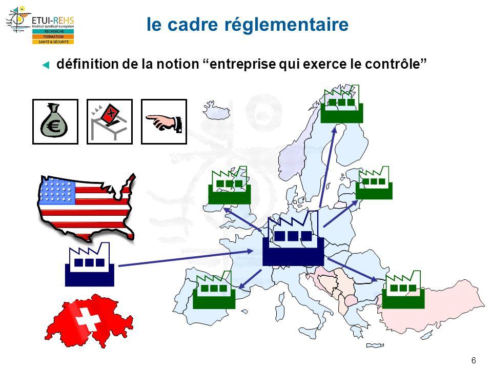 6 le cadre réglementaire définition de la notion entreprise qui exerce le contrôle