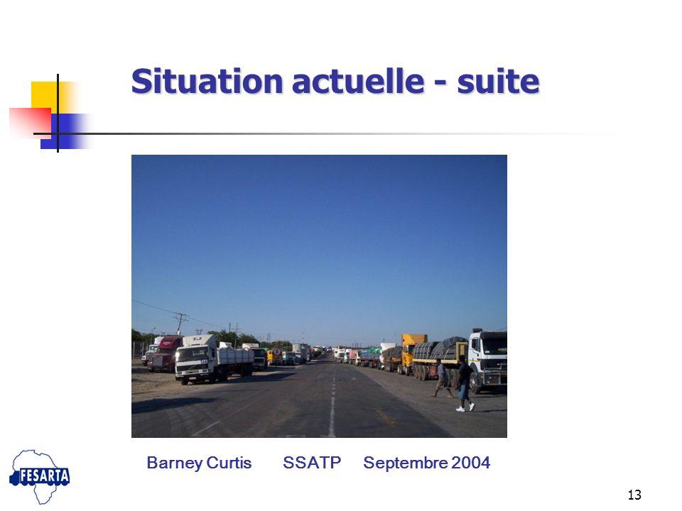 13 Situation actuelle - suite Barney Curtis SSATP Septembre 2004