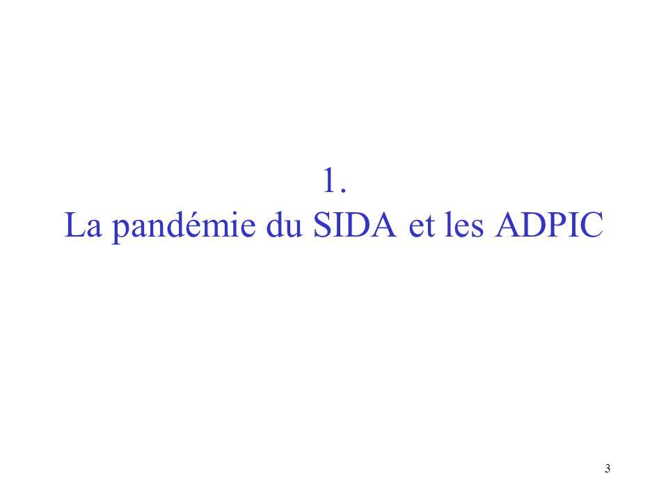 3 1. La pandémie du SIDA et les ADPIC