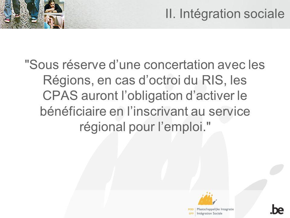 II. Intégration sociale