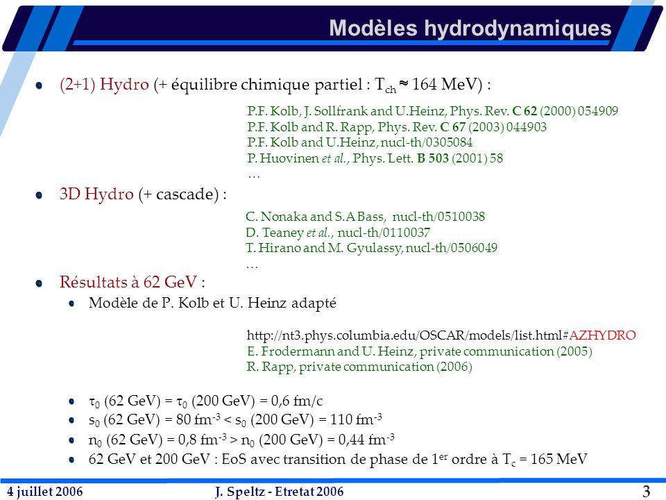 4 juillet 2006J. Speltz - Etretat 2006 24 Mise en échelle avec le nombre de quarks constituants