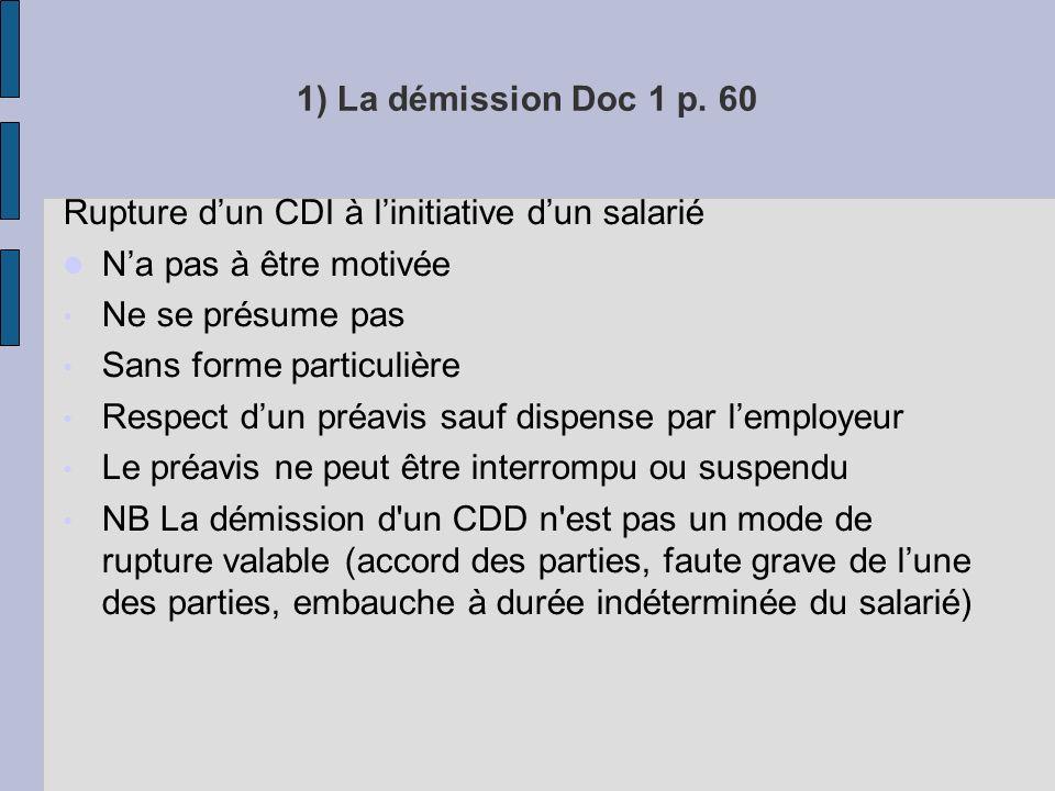 1) La démission Doc 1 p.