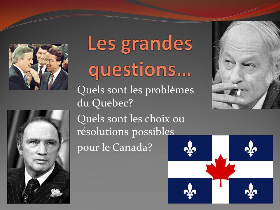 Le Parti Quebecois Le Parti Quebecois croyait quun changement dans la constitution québecois devrait se réaliser par des manières démocratiques et pas violentes Referendum vs.