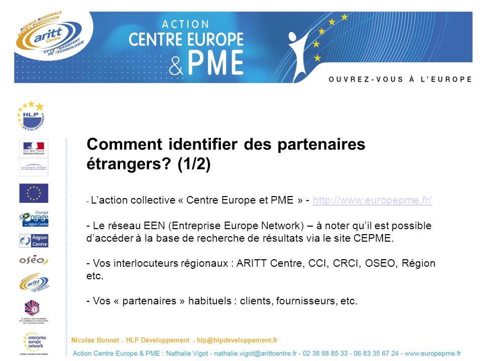 Comment identifier des partenaires étrangers.