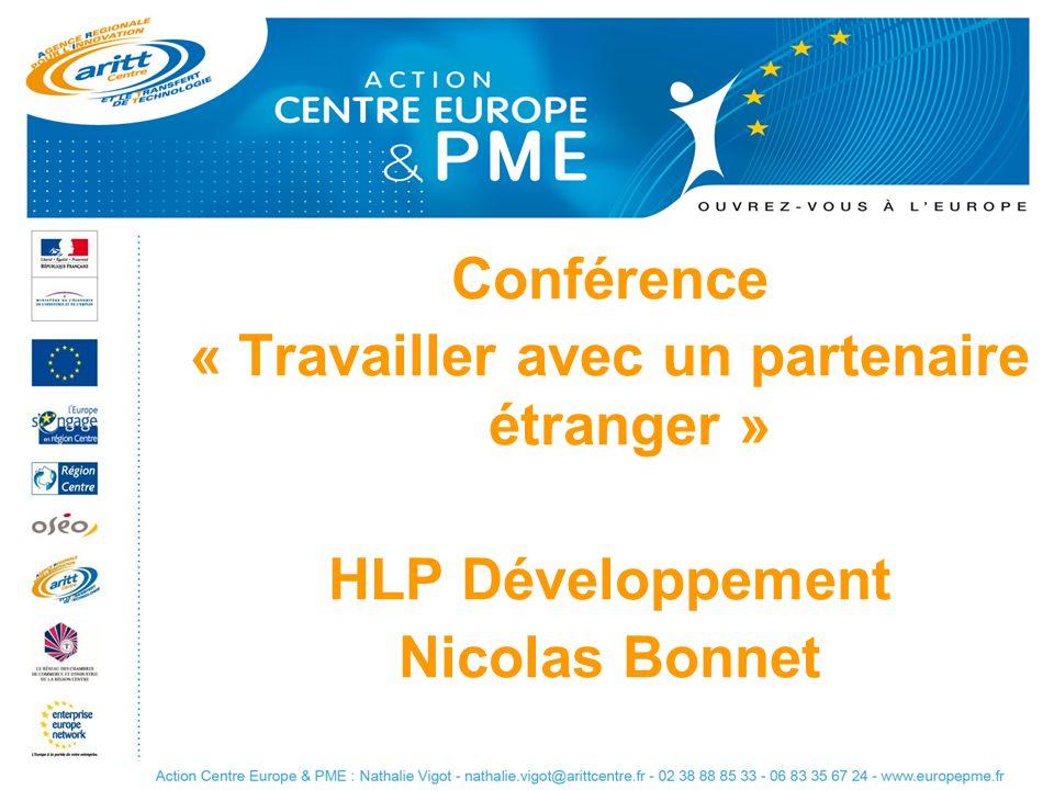 Conférence « Travailler avec un partenaire étranger » HLP Développement Nicolas Bonnet