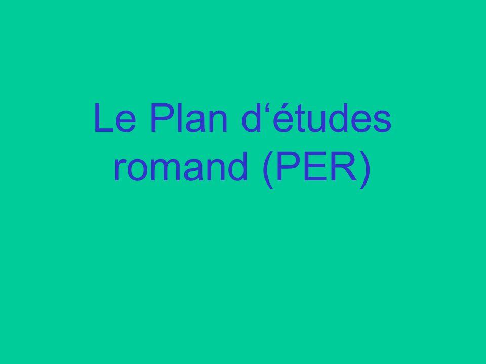 Le Plan détudes romand (PER)