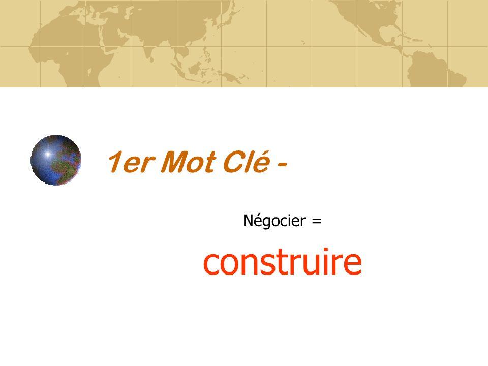 1er Mot Clé - Négocier = construire