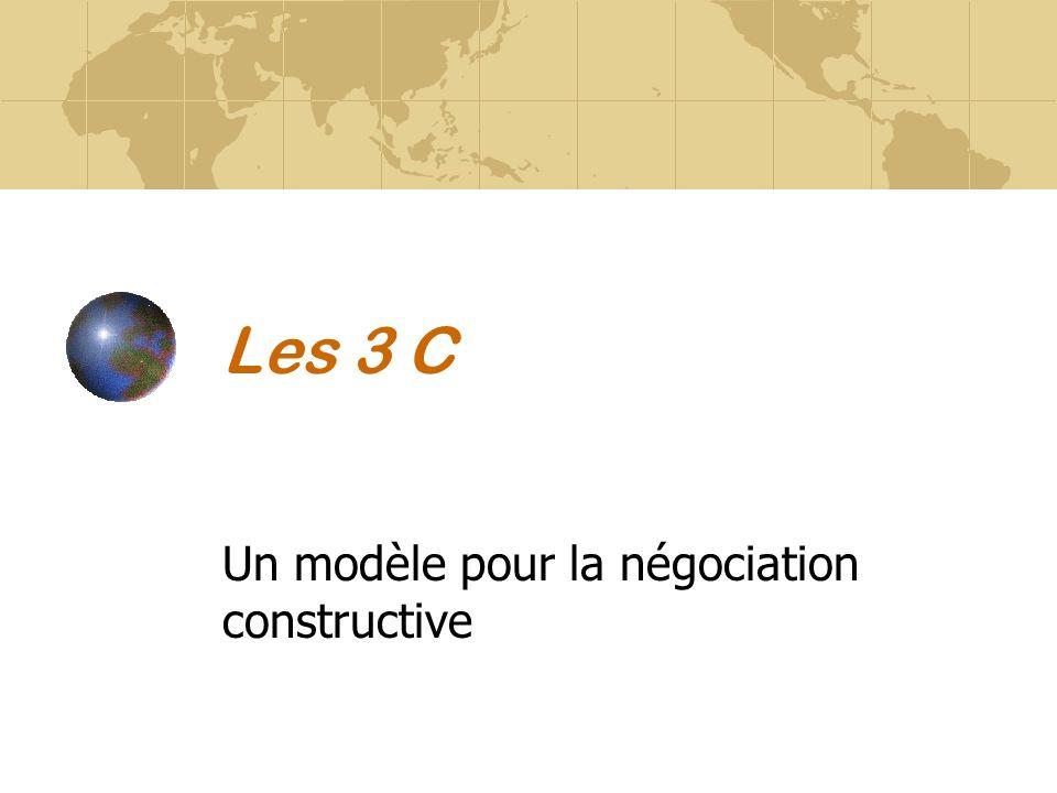 Les 3 C Un modèle pour la négociation constructive