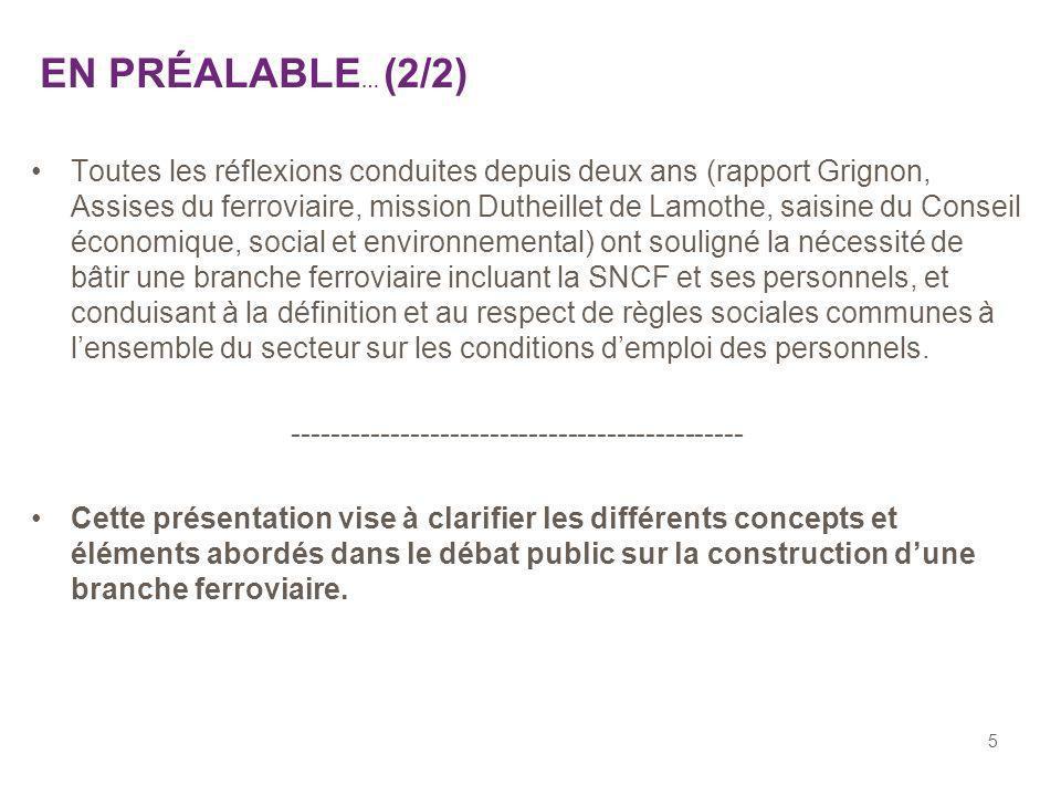 46 QUESTIONS / RÉPONSES (3) QUELLE PARTIE DU GROUPE SNCF DANS LA FUTURE BRANCHE .
