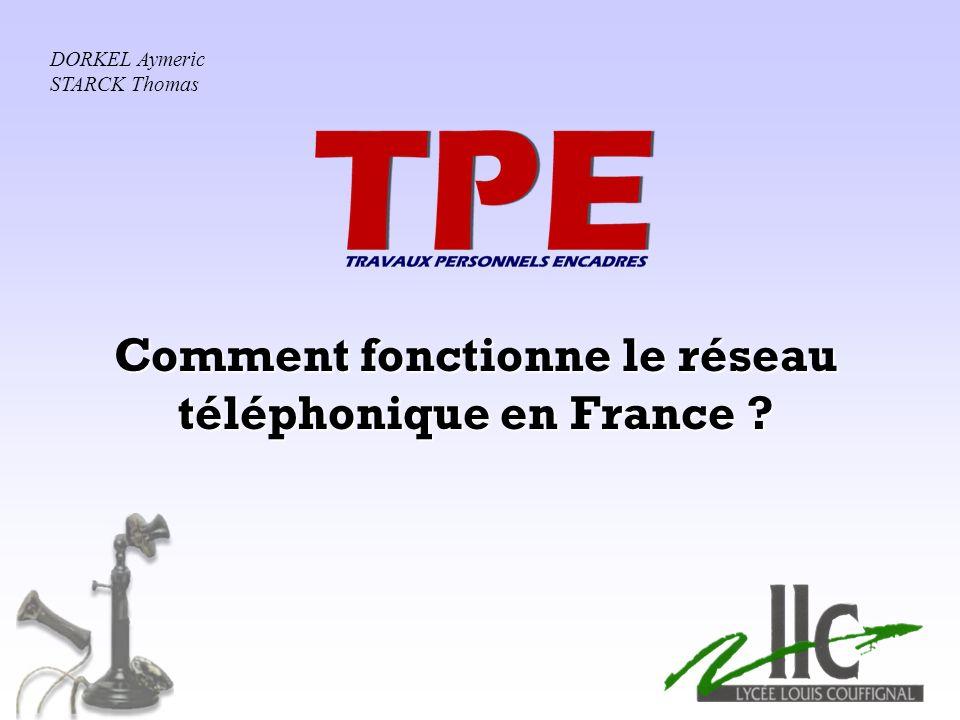 Comment fonctionne le réseau téléphonique en France ? DORKEL Aymeric STARCK Thomas