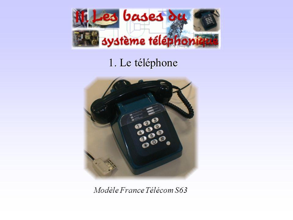 1. Le téléphone Modèle France Télécom S63