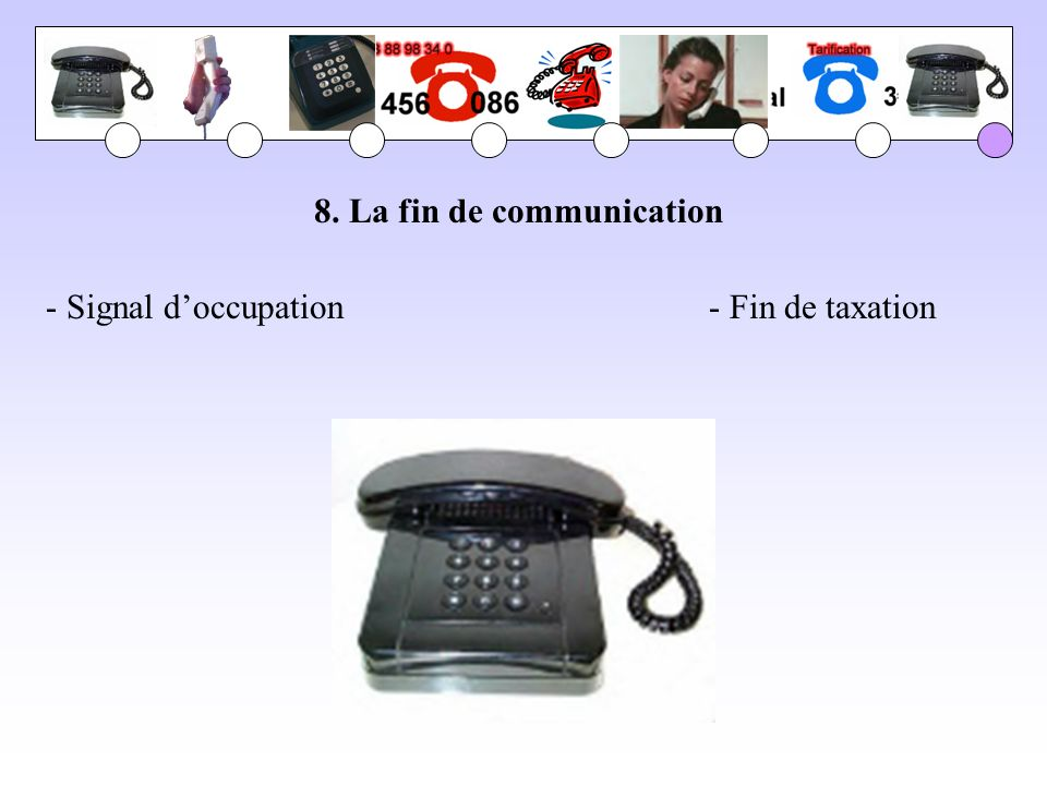 8. La fin de communication - Signal doccupation- Fin de taxation