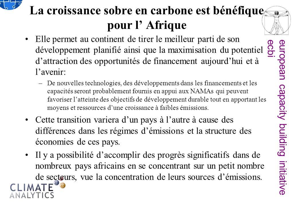 european capacity building initiativeecbi La croissance sobre en carbone est bénéfique pour l Afrique Elle permet au continent de tirer le meilleur pa