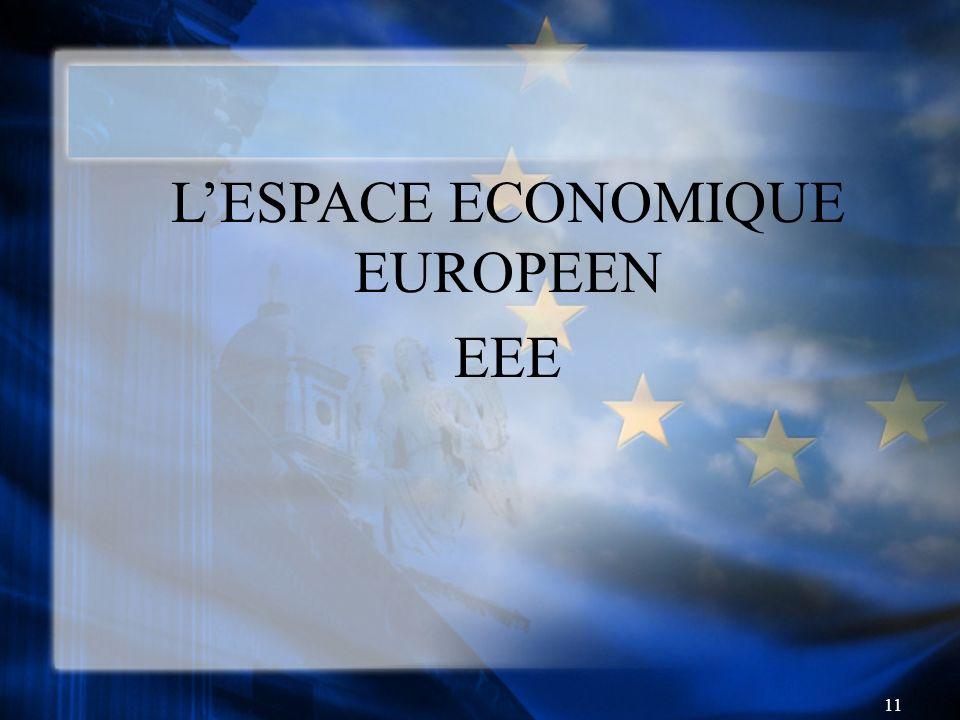 11 LESPACE ECONOMIQUE EUROPEEN EEE