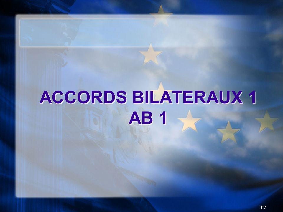 17 ACCORDS BILATERAUX 1 AB 1