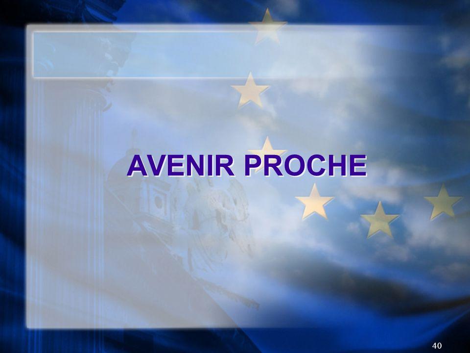40 AVENIR PROCHE