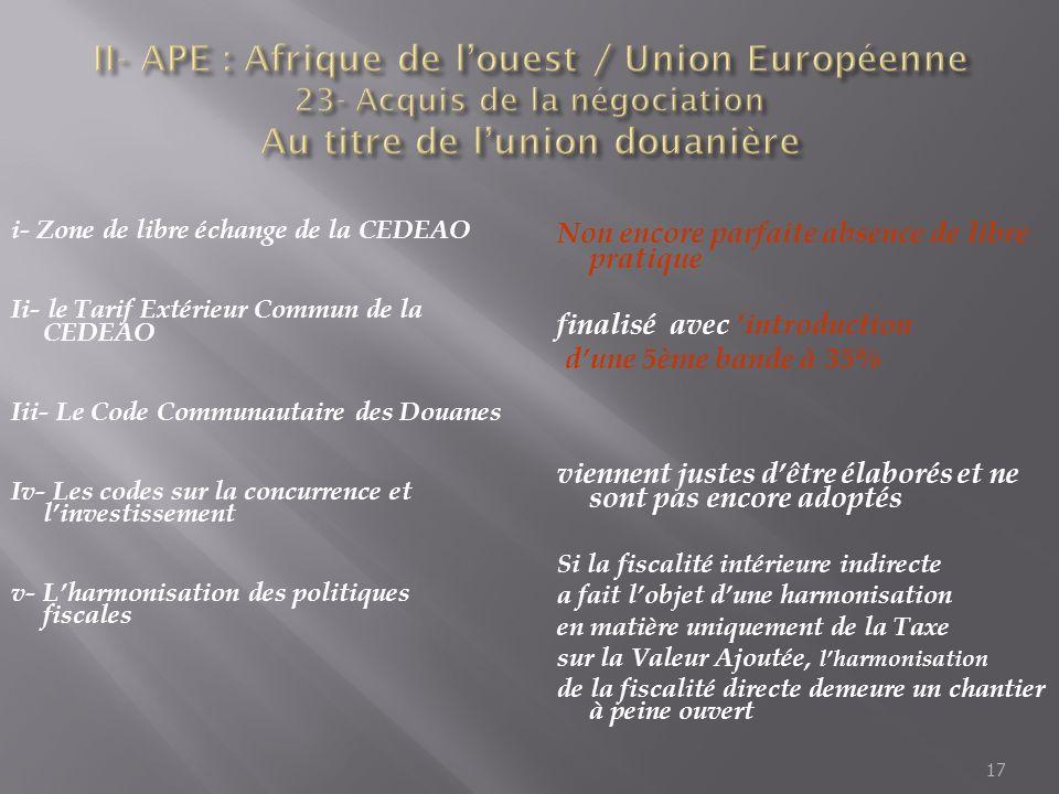 "Pr�sentation ""1 Accord de Partenariat Economique entre lAfrique de ..."