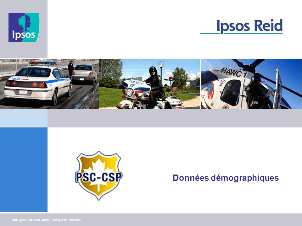 26 © 2010 Ipsos Reid Public Affairs Privileged and confidential Données démographiques