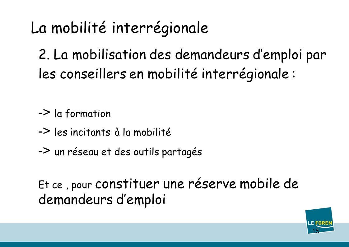 15 La mobilité interrégionale 2.