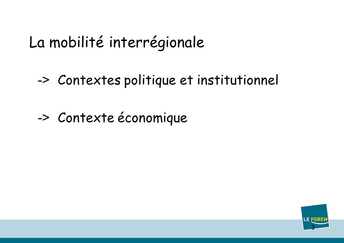 3 La mobilité interrégionale -> Contextes politique et institutionnel -> Contexte économique