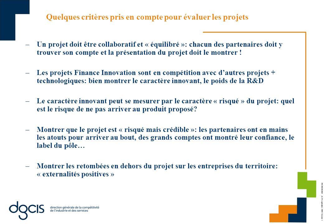 PH.VRIGNAUD ; le 29 septembre 2009 Version 1 Quelques critères pris en compte pour évaluer les projets –Un projet doit être collaboratif et « équilibr