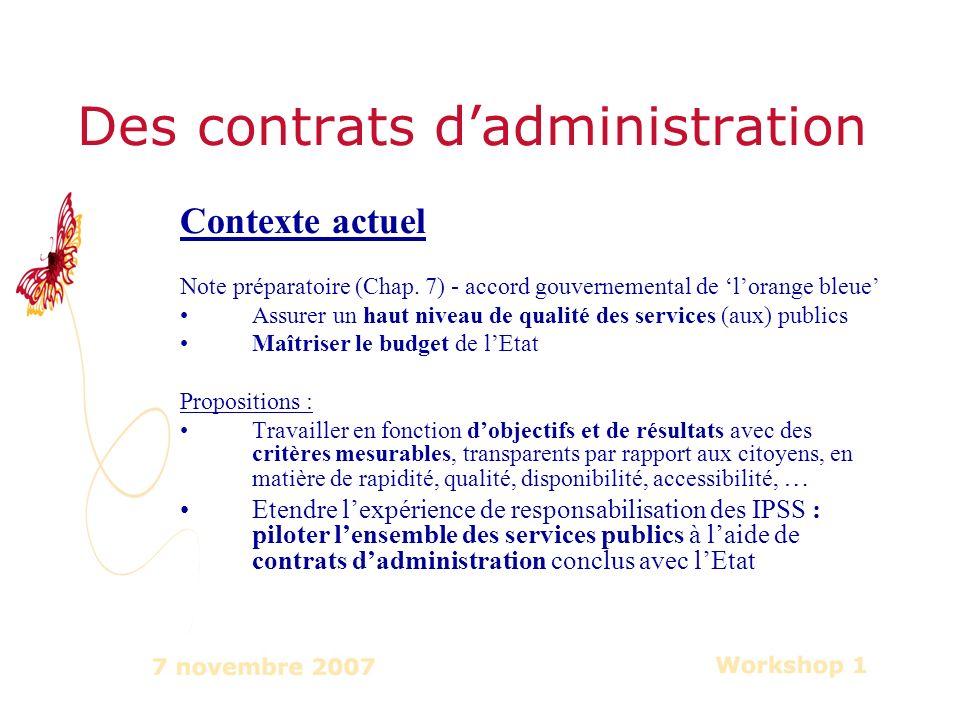 Contexte actuel Note préparatoire (Chap.