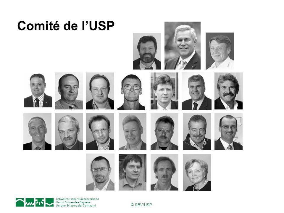 Schweizerischer Bauernverband Union Suisse des Paysans Unione Svizzera dei Contadini © SBV/USP Secrétariat de lUSP Direction Directeur : J.