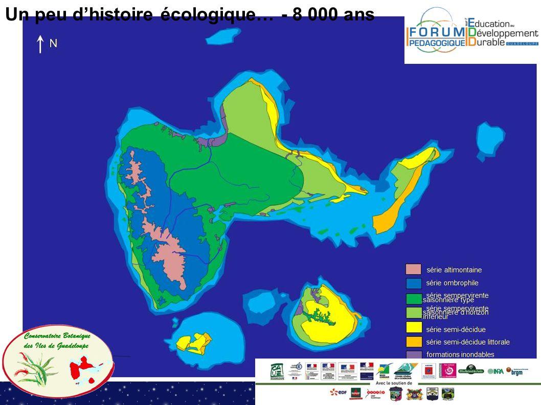 Un peu dhistoire écologique… - 8 000 ans