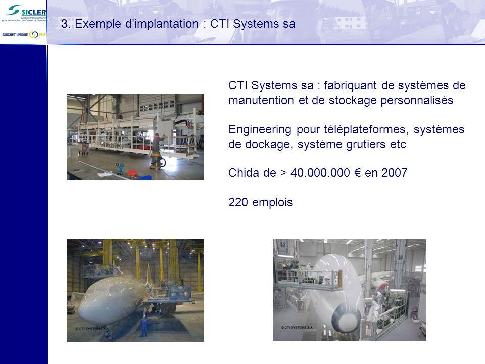 CTI Systems sa : fabriquant de systèmes de manutention et de stockage personnalisés Engineering pour téléplateformes, systèmes de dockage, système gru