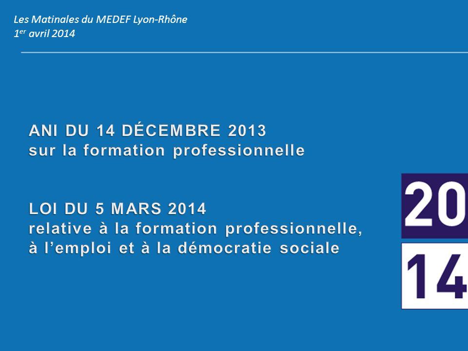 Les Matinales du MEDEF Lyon-Rhône 1 er avril 2014