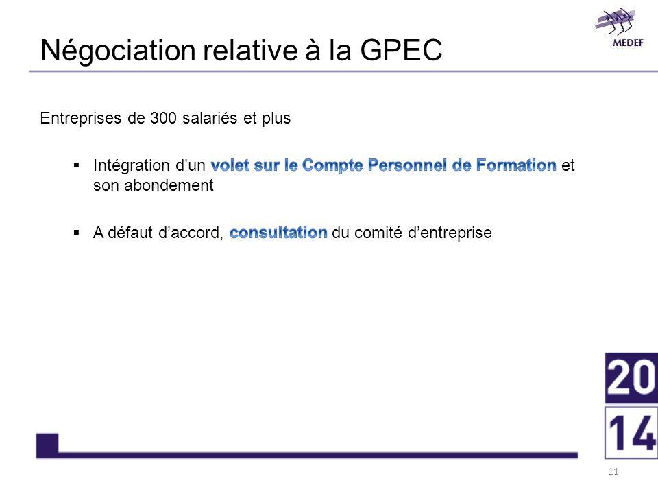Négociation relative à la GPEC 11