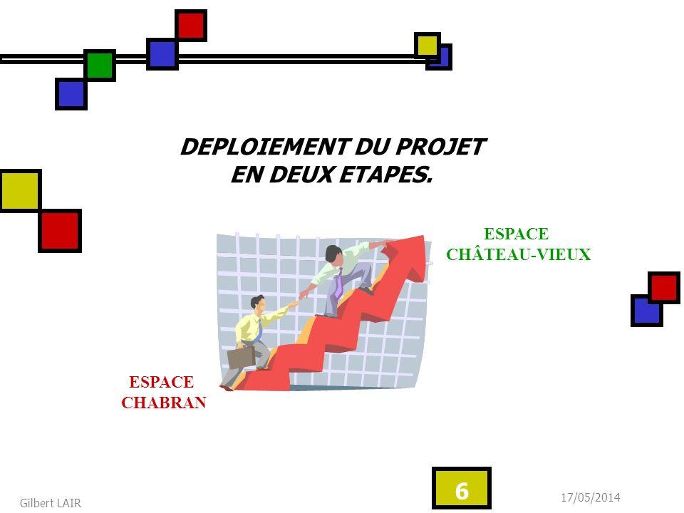 17/05/2014 Gilbert LAIR 6 DEPLOIEMENT DU PROJET EN DEUX ETAPES. ESPACE CHABRAN ESPACE CHÂTEAU-VIEUX