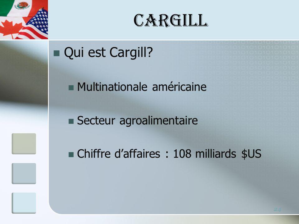 CARGILL Qui est Cargill.