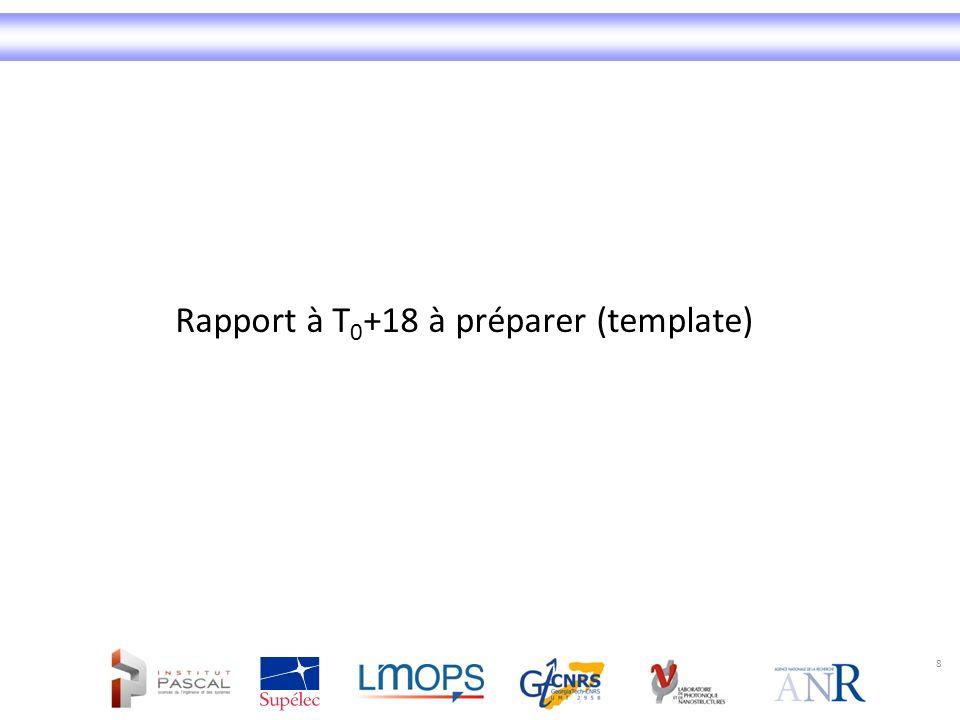 8 Rapport à T 0 +18 à préparer (template)