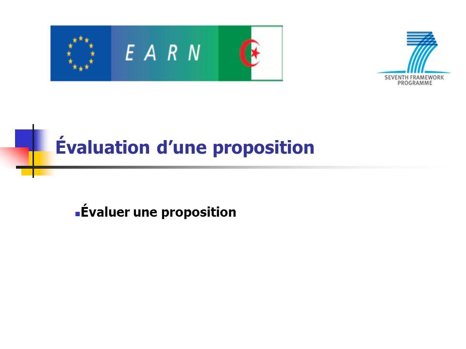 Évaluation dune proposition Évaluer une proposition