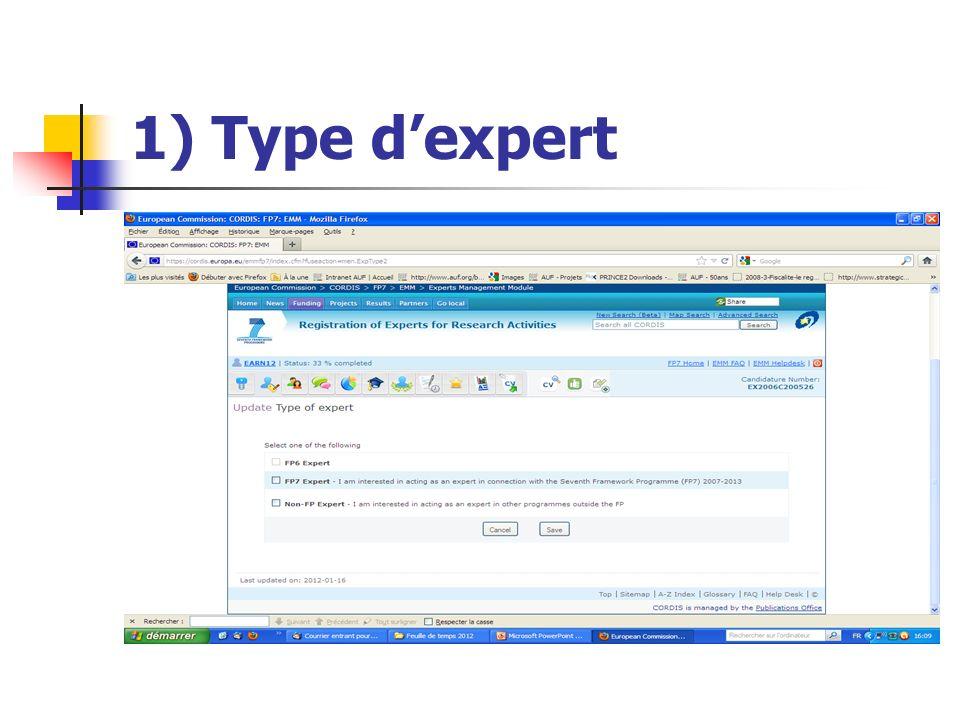 1) Type dexpert