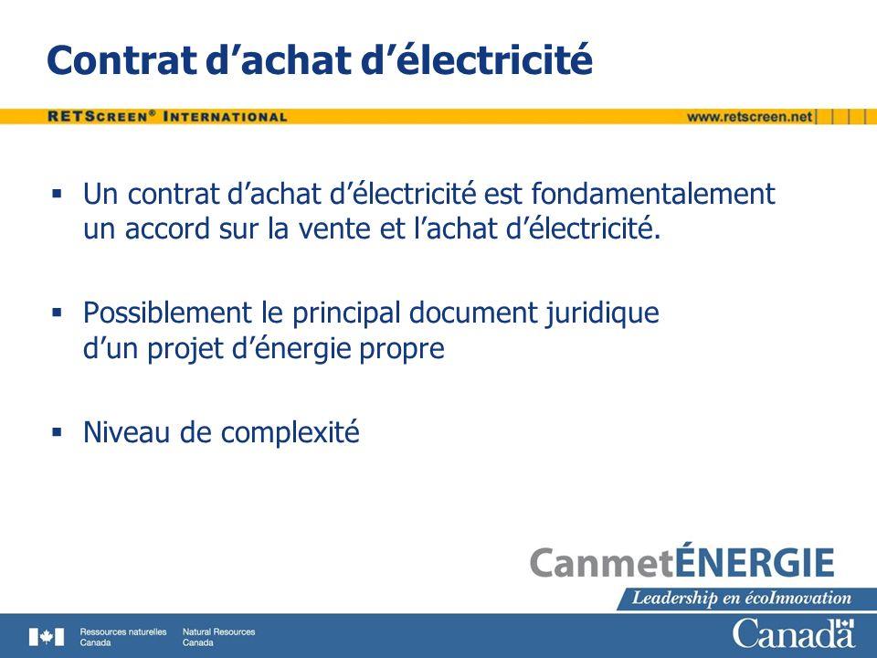 Contrat dachat délectricité Un contrat dachat délectricité est fondamentalement un accord sur la vente et lachat délectricité. Possiblement le princip