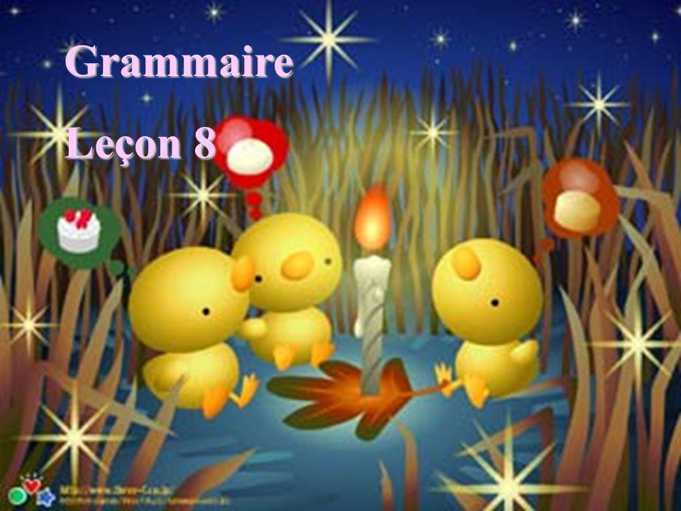 Grammaire Leçon 8
