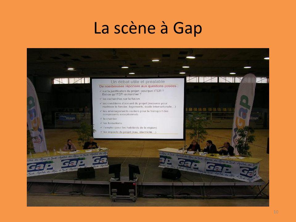 La scène à Gap 10