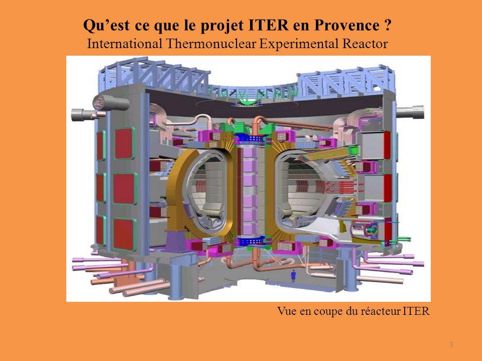 Quest ce que le projet ITER en Provence .