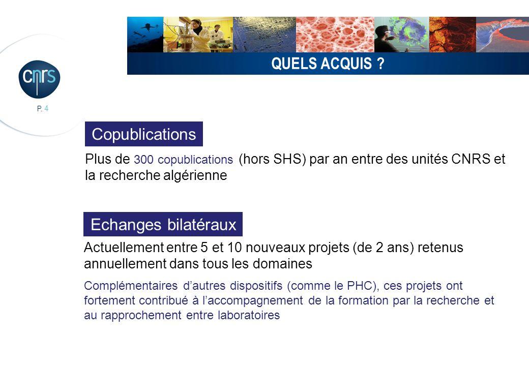 P.5 QUELS ACQUIS .